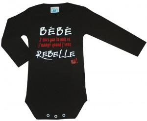 Body bébé rebelle