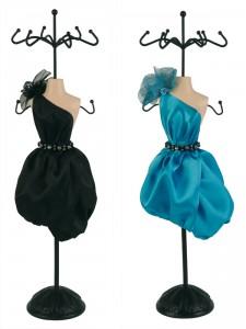 buste porte-bijoux robe