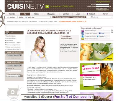 cuisine.tv assiette à décorer