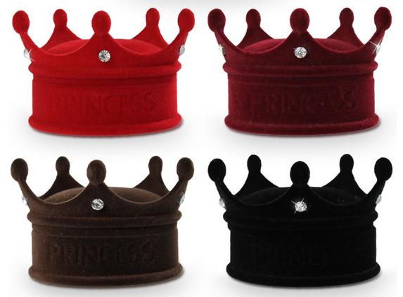 écrin bague couronne princess
